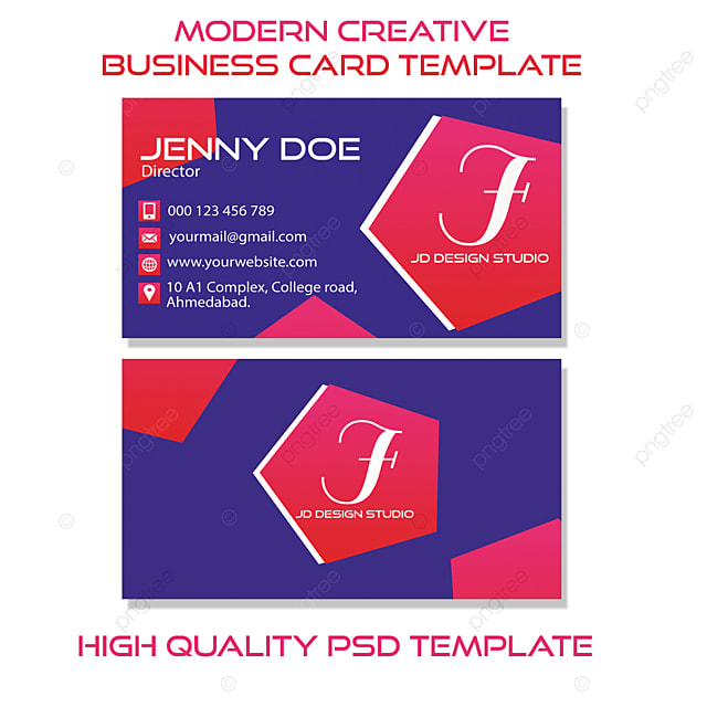 Modern creative business card PSD template Template