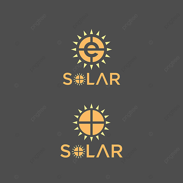 Vector Illustration Solar Logo Company With Sun Light And