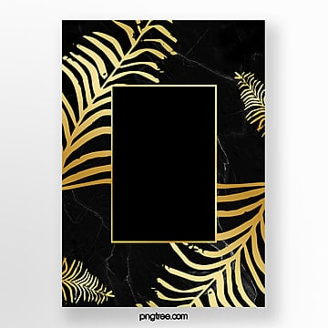 invitation letter for metal border of black gold marble formwork Template