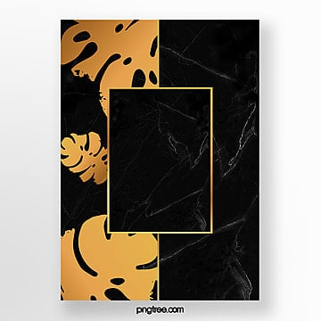 invitation letter of black gold marble template Template