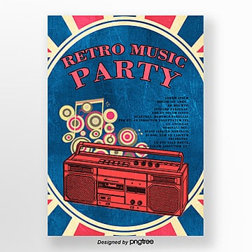 Video Music Party in Retro Style, Retro Style, European Style, Party PNG and PSD