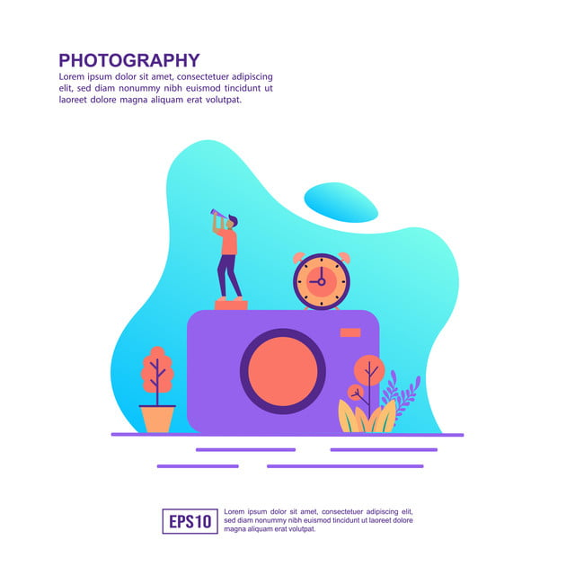 Vector Illustration Concept Of Photography Modern