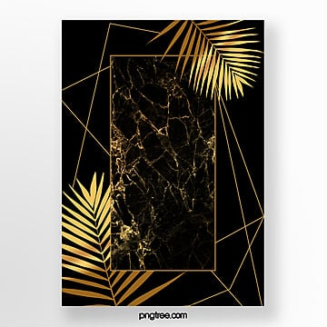 black gold marble frame formwork Template