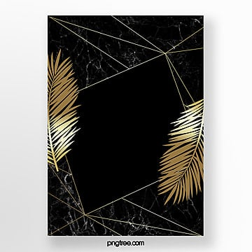 black gold marble geometric template Template