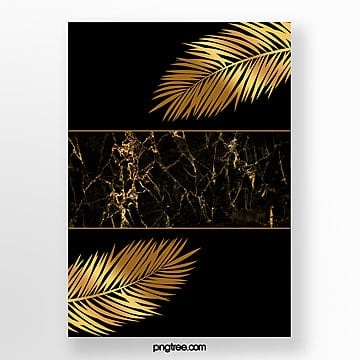 black gold palm marble template Template