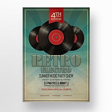 Fashion ray retro style album music theme Poster, Theme, Record, Vintage PNG and PSD