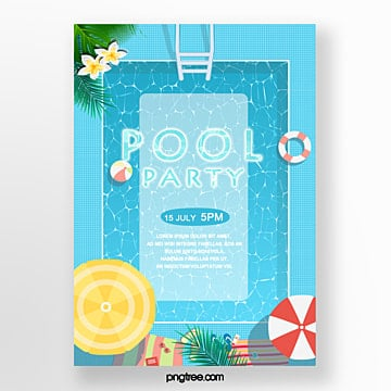 summer pool party posters Template