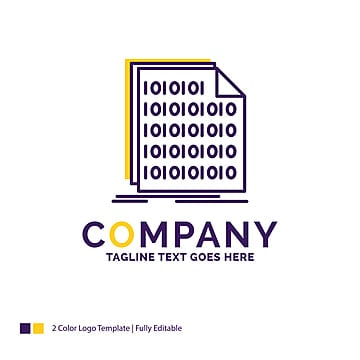 company name logo design for binary code coding data documen Template