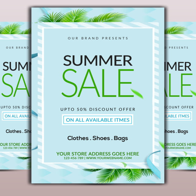 Hot Sale Flyer Template for Free Download on Pngtree