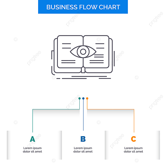knowledge,book,eye,view,growth business flow chart design wi