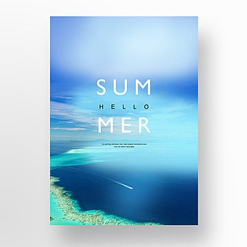 Fresh Blue Ocean Summer Creative Poster Template