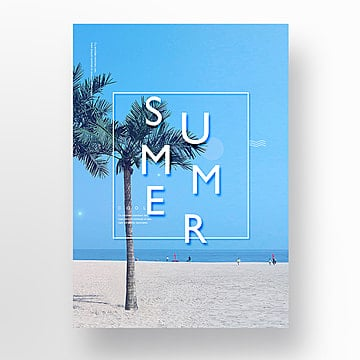 fresh blue summer fruit creative poster Template