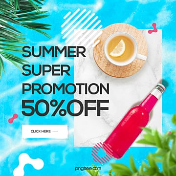 modern fashion summer color sns web advertising Template