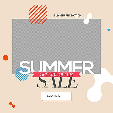 natural fresh simple fashion summer promotion sns advertisement Template
