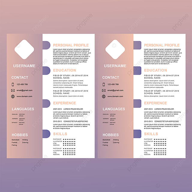 cv resume template new design and textured with gradients color fresh graduate template for free