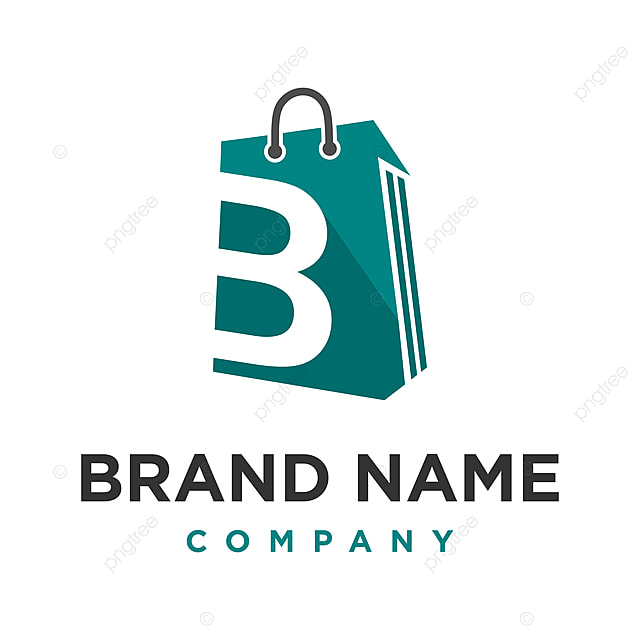 initial logo b shopping bag Template for Free Download on Pngtree