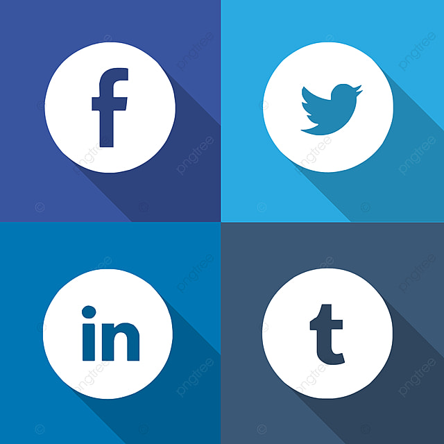 Social media icons PSD and PNG files Download Template