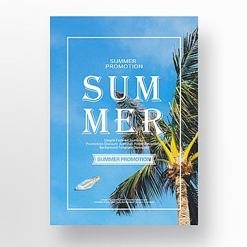 Creative Summer Beach Ocean posters Template