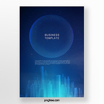 dark blue gradient commercial science and technology poster Template