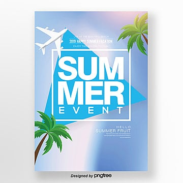 fresh simple gradual fashion summer promotion poster Template