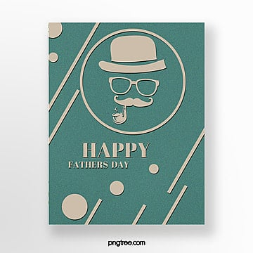 happy fathers day card posters Template