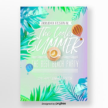 modern color gradient summer promotional poster design Template