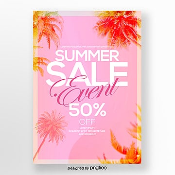 Modern Fashion Warm Gradual Summer Poster Template