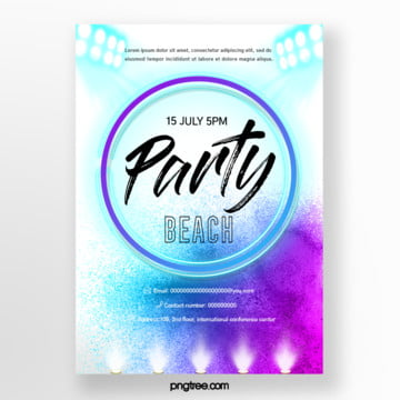 purple watercolor splash gradual beach party Template