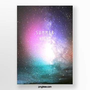 simple color gradient sea summer posters Template