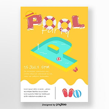 Summer pool party posters, Summer, Summertime, Swimming Pool PNG and Vector