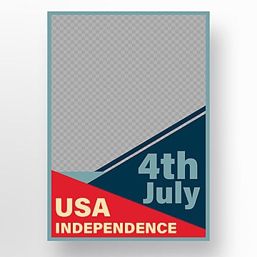 usa independence day poster 4th july with vector statue of liberty Template