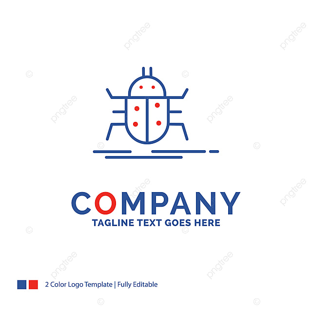 Company Name Logo Design For Bug Bugs Insect Testing Virus