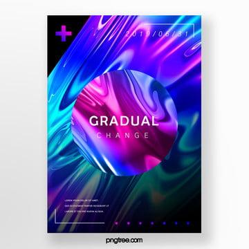 circular fluid gradient creative poster Template