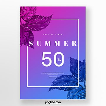 midsummer night gradual summer discount poster Template