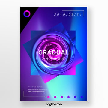 polygon fluid gradual creative poster Template