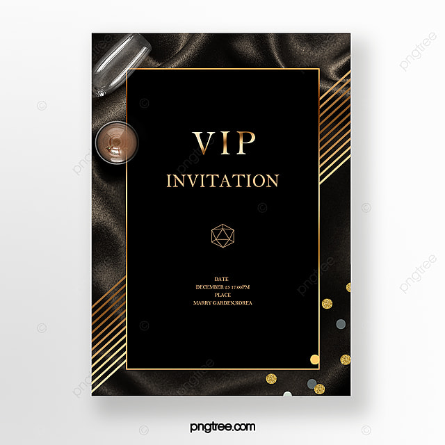 Black Gold Luxury Business Vip Invitation Template For Free