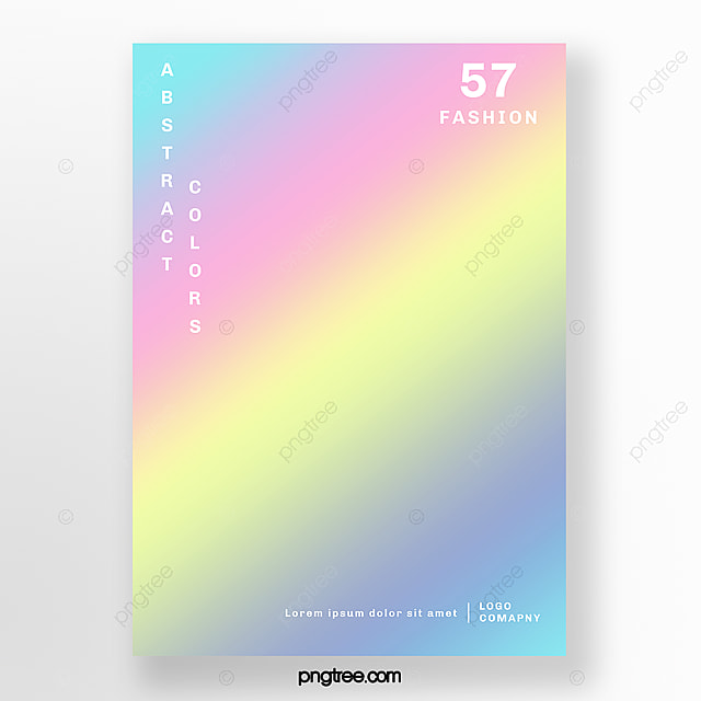 Simple Fashion Rainbow Holographic Poster Template For