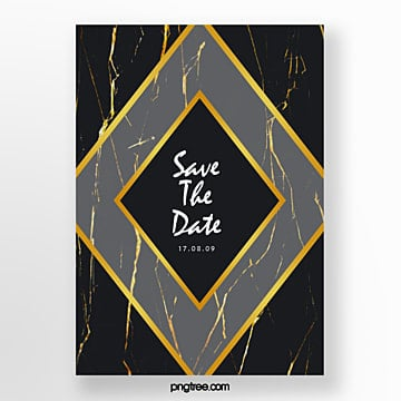 black gold marble diamond wedding invitation european poster Template