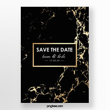 black gold marble gold line wedding invitation abstract poster Template