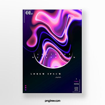 color fluid gradual creative poster Template