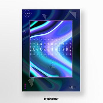 dark fluid gradient creative poster Template