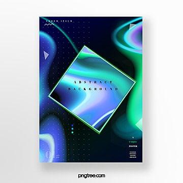 dark fluid gradual creative unique poster Template