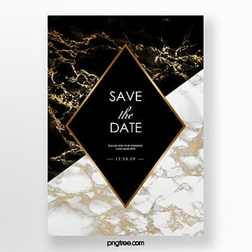 european style posters with black luxury marble wedding invitations Template