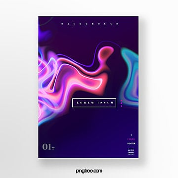 fluid gradual unique creative poster Template