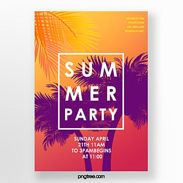 Gradual Summer Beach Party Creative Activities Poster Template