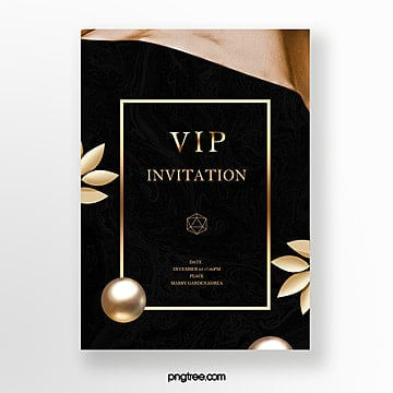 high end black gold luxury business invitation template Template