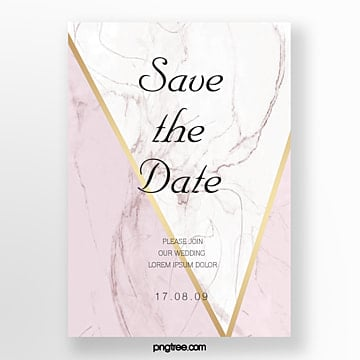 rose gold marble golden side wedding invitation and european poster wedding menu Template