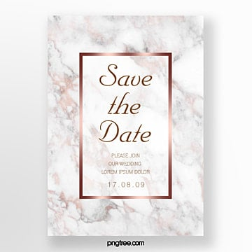simple posters of modern wedding invitations in rose gold marble Template