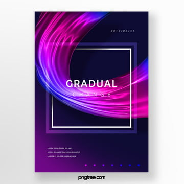 square fluid blue pink gradual creative poster Template