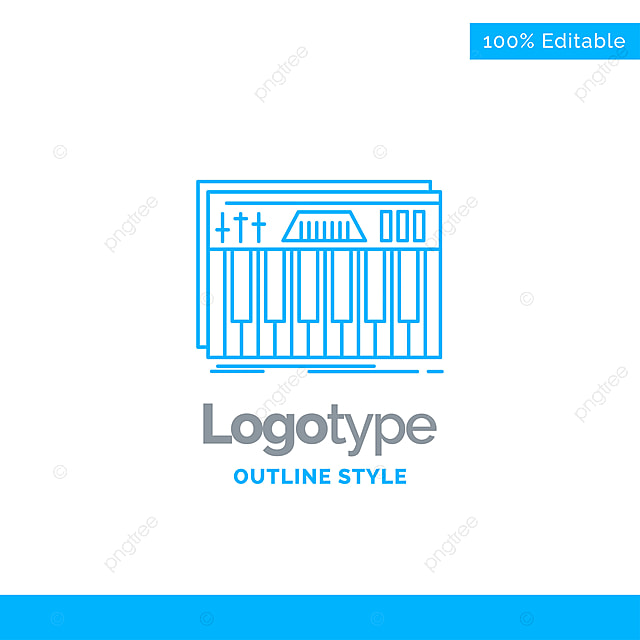 blue logo design for controller,keyboard,keys,midi,sound bu Template